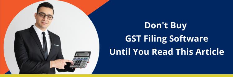gst filing software