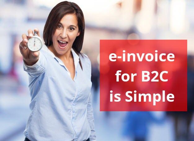 e-invoice for b2c