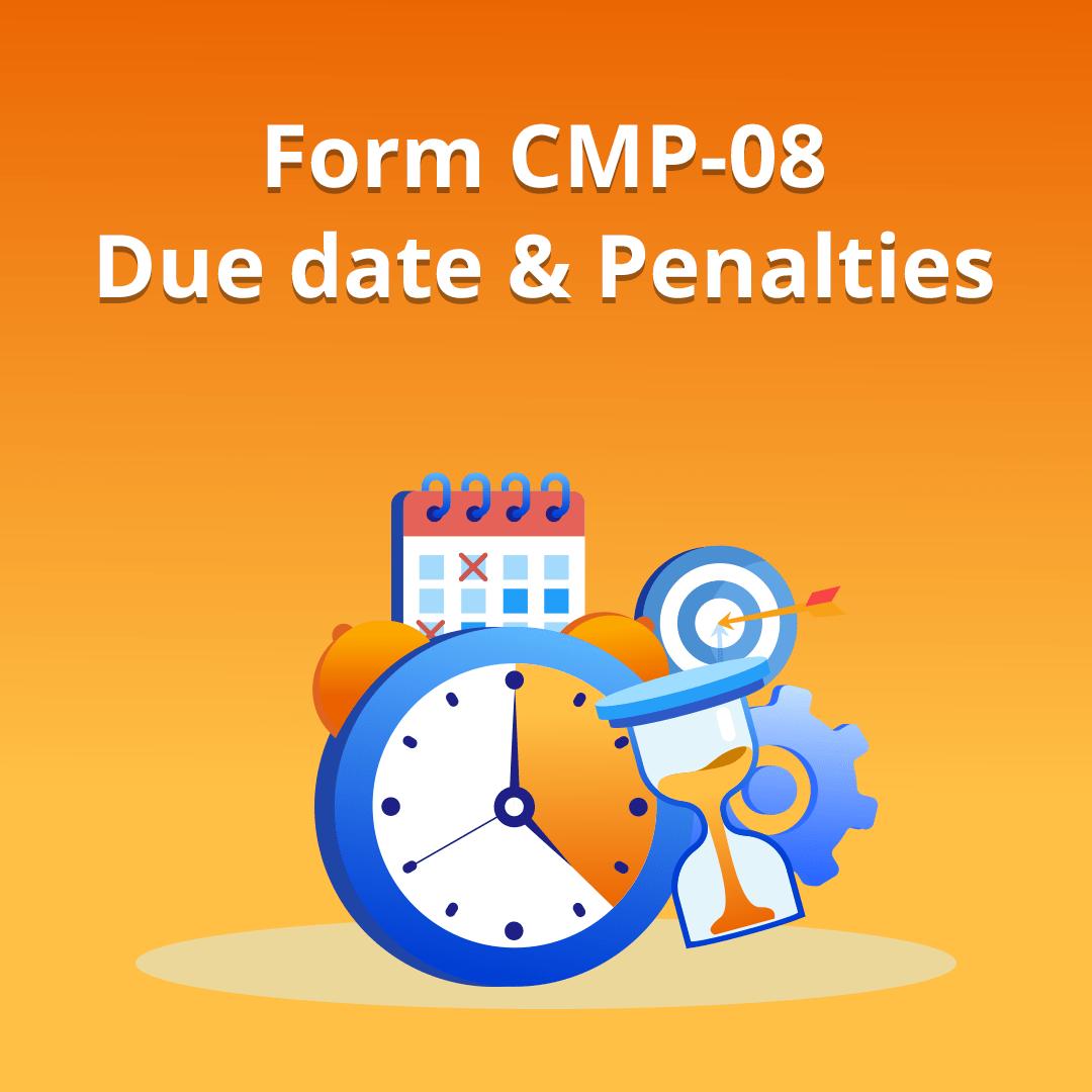 CMP-08 Form filing