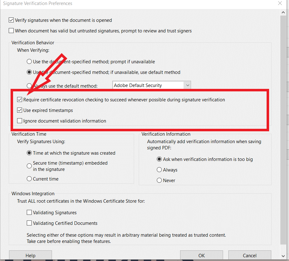 how to verify signature in pdf