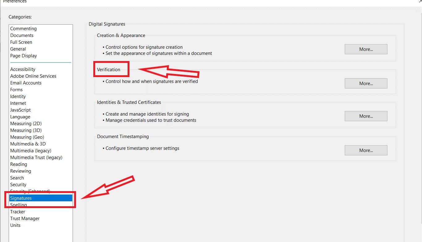 validate signature in pdf